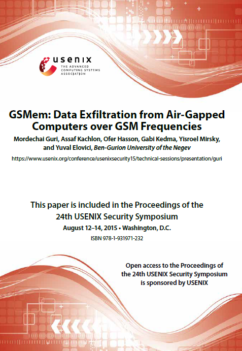 GSMem Data Exfiltration from Air-Gapped Computers over GSM Frequencies